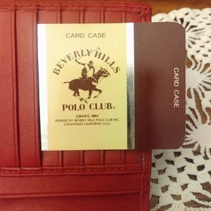 Beverly hills Polo club red leather wallet